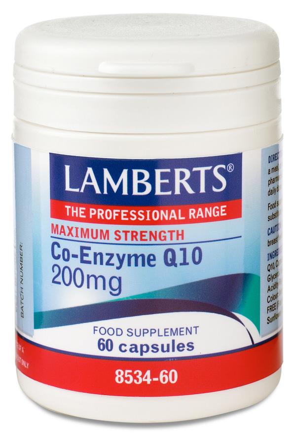 Ubiqinon Q10 coenzym 200mg (q 10 kosttillskott) (60 kapslar)