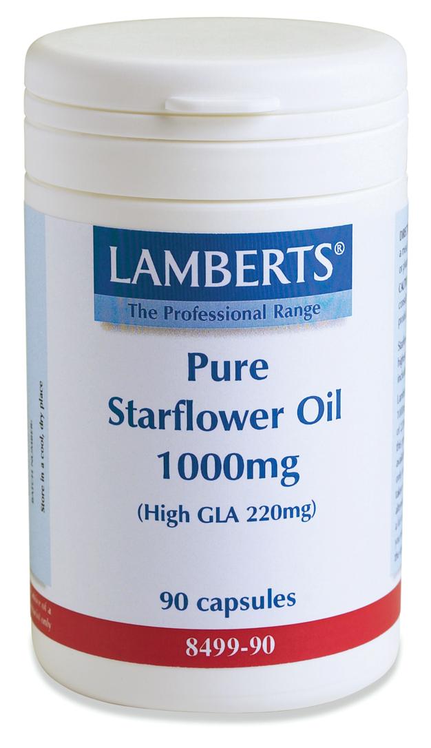 STARFLOWER OIL 1000mg (gurkörtsolja / borage GLA olja (90 kapslar)