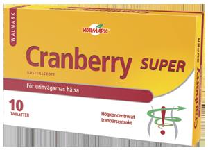 Cranberry Super – Tranbärsextrakt – 30 tabletter (3×10)
