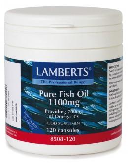 PURE FISH OIL 1100mg (eicosapentaenoic EPA, DHA docosahexaenoic acid) (120 Capsules)