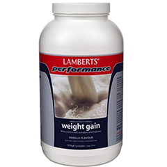 Lamberts Weight Gainer pulver 1816g – vaniljsmak (muskelgainer – muskeluppbyggnad – muskeluppbyggande)