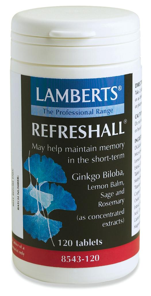 REFRESHALL (Ginko biloba extrakt för med citronmeliss, salvia och rosmarin) (120 tabletter)