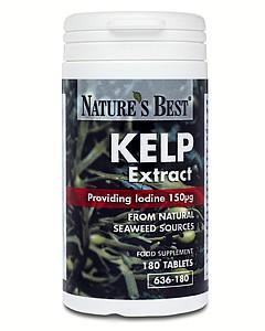 Natures Best JOD 150mcg (Kelp Alg Extrakt) (180 jodtabletter från alger)