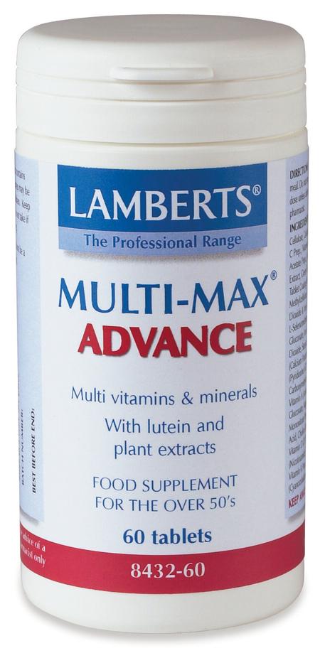 MULTI-MAX ADVANCE (Multivitamin för äldre vuxna med antioxidanter) (60 tabletter)