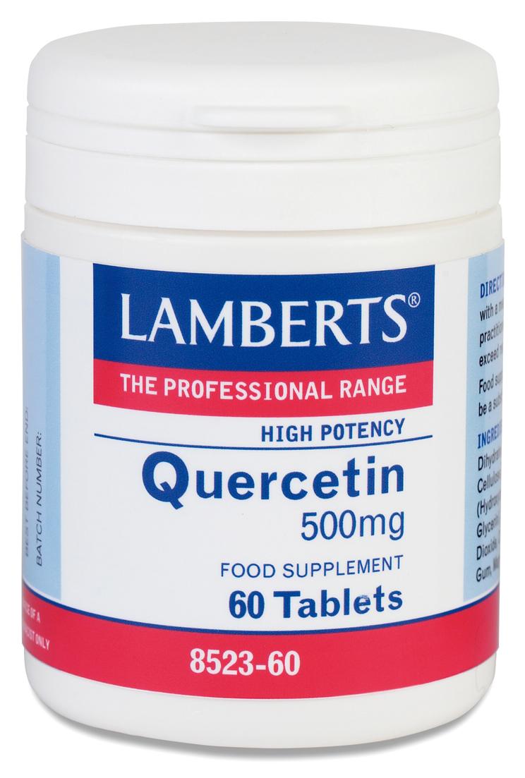 Quercetin 500mg (quercitin bioflavonoider kosttillskott) (60 tabletter)