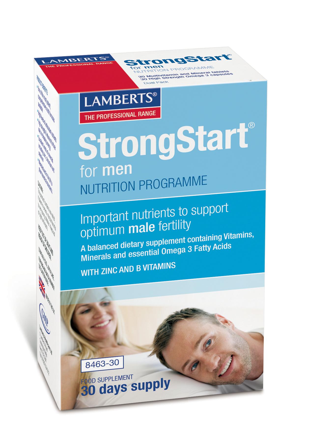Strongstart för Män - Fertilitets befrämjande kosttillskott för män med infertilitets problem