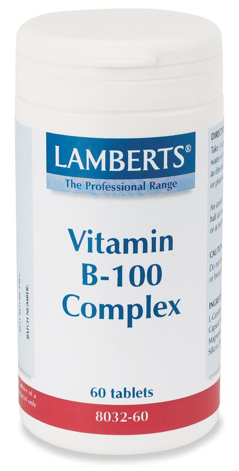 VITAMIN B-100 KOMPLEX kosttillskott (200 tabletter)