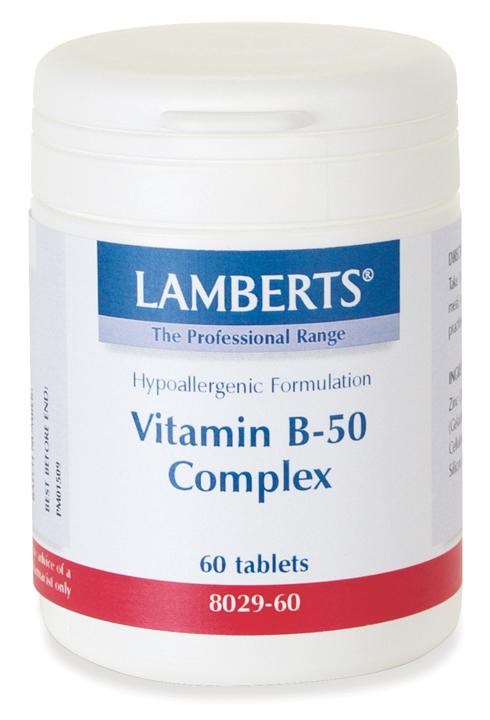 Vitamin B-50 KOMPLEX kosttillskott (60 tabletter)