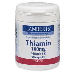 Tiamin 100mg (vitamin B1) (90 kapslar)