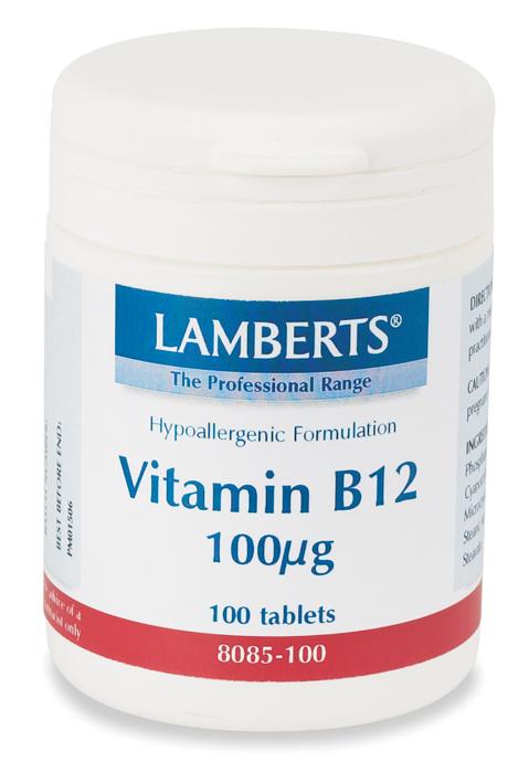 VITAMIN B12 100mcg (som cyanokobalamin) (100 tabletter)