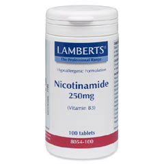 NIACIN som nikotinamid (vitamin B3) 250mg (100 tabletter)
