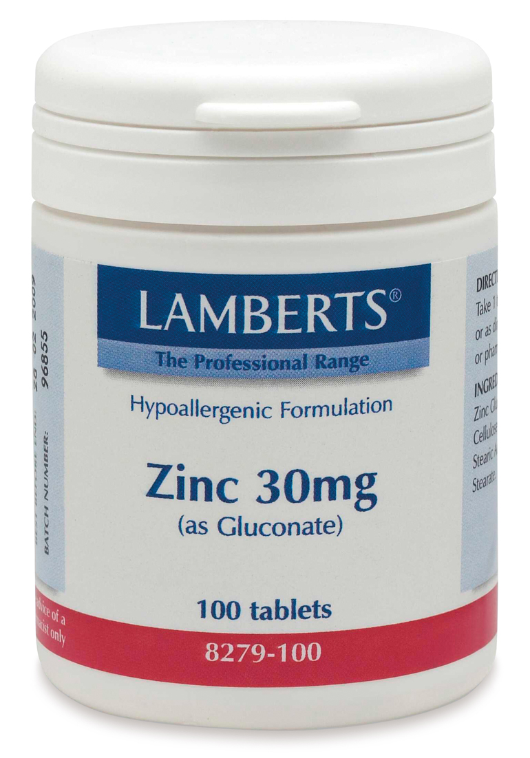 ZINK 30mg (som zinkglukonat) (100 tabletter)