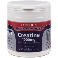 Lamberts Creatine (Kreatinmonohydrat) 1000mg Tabletter