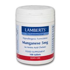 MANGAN 5 mg (som aminosyrekelat) (100 tabletter)